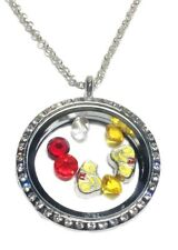 Winnie The Pooh Round Crystal FLOATING CHARMS LOCKET Necklace