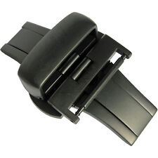 18mm Hadley-Roma BKL150 Matte Black PVD Butterfly Deployant Clasp Buckle