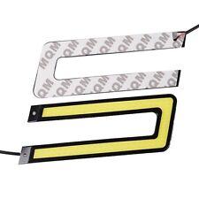 2* White COB 6000K LED Daytime Running Light DRL Headlight U Shape Fog Lamp