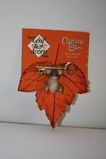 """Charming Tails Thermoset Resin Mouse Skeleton Key 2"""" Pin Brooch on Card"""