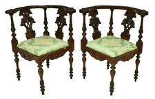 Charming (2) Renaissance Revival Carved Corner Chairs, 19th century ( 1800s )!