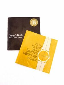Bulova Owners guide brochure and guarantee paper