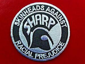 SHARP SKINHEADS AGAINST RACIAL PREJUDICE SKA TROJAN EMBROIDERED PATCH UK SELLER