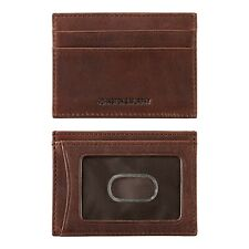 Johnston & Murphy Weekender RFID Mens Leather card case - Whiskey