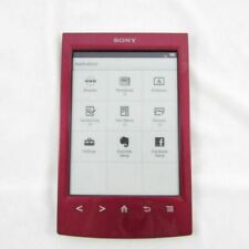 """*UNTESTED* RED SONY PRS-T2 DIGITAL E-BOOK 2GB 6"""" READER eREADER WI-FI TABLET"""