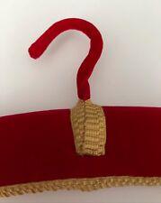 RED LUXURY PADDED UNUSED VINTAGE VELVET DRESS/GARMENT/COAT HANGER