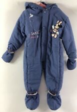 Disney Toddlers' Baby Girls' Winter Overall All-in-1 Suit Blue Size 24 MTS
