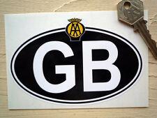 GB AA stile classico auto o moto nazionale ID PIASTRA ADESIVO 125MM BICI Van