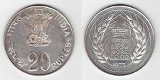 INDIA – SILVER PROOF 20 RUPEES COIN 1973 YEAR KM#240 FAO