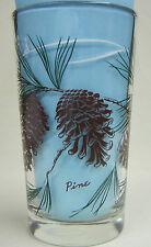 Pine Peanut Butter Glass Glasses Drinking Kitchen Mauzy 83-3