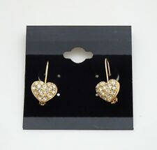 Gorgeous Heart Shape Swarovski Crystal Heart Shape Drop Earrings - Gold Plated