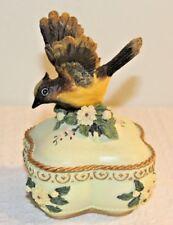 Heritage House Songbird Treasures Music Box Cedar Waxwing