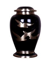 Large Cremation Urn Adult Urn for Ashes Black Birds Funeral Memorial Ashes Urn
