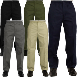 Elasticated Waist Casual Rugby Trousers Mens Waist Size 30 to 48 Inside Leg 29 &