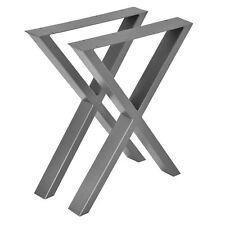 2x Struttura Tabella Base per Tavolo Gambe Scorrevoli 59x72cm Acciaio