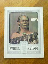 Wanderlust Magazine Vol. 1 No. 2, 1930 - rare vintage New Zealand colour photos