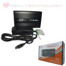 """CASE BOX ESTERNO 3.5"""" SATA USB 2.0 IN ALLUMINIO GRIGO/NERO PER HARD DISK HD 3.5"""
