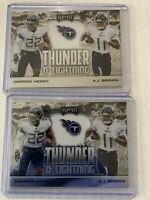 Derrick Henry And AJ Brown Thunder And Lightening Lot 2020 Panini Playoff