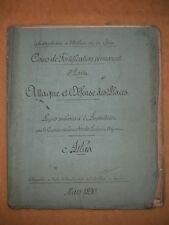 Cours Arti. et Génie 1890 Attaque et défense des places Atlas Sandier