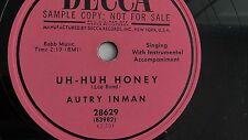 Autry Inman– 78rpm 10-inch –Decca #28629 | eBay
