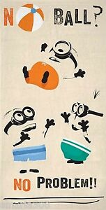 Despicable Me Minion Beach | Pool Bath Towel | 100% Cotton | No Ball No Problem