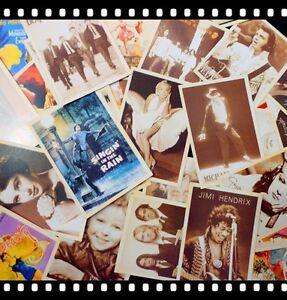 Lot of 32 Old Memories Forever Movie Star & Rock Star Vintage Postcards