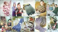 KNIT Pattern BIG Book FAMILY ALBUM of KNITS ~ Afghans, Sweaters, Baby, Pets & +