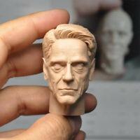 "Hot 1//12 Scale Iron Man Obadiah Stane Head Sculpt Unpainted Fit 6/"" ML Figure"