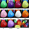 "100 Rainbow Mix 10"" Heart Shaped Biodegradable Balloons Wedding Party Funeral UK"