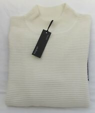 LADIES MARKS AND SPENCER AUTOGRAPH CREAM AND BLACK JUMPER WITH WOOL SIZE 20