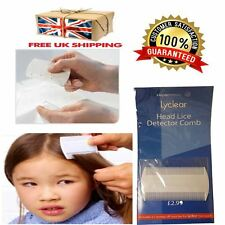 White Double Sided Nit Combs for Head Lice Detection Comb Kids Pet Flea