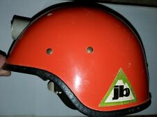 Rare Joe Brown Climbing Helmet Rock Caving, Tree Fiberglass Vintage - Og Decals