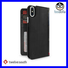 TWELVE SOUTH BookBook Vintage Style Wallet Leather Case for iPhone X / XS, Black