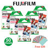 50 PCS Fujifilm Instax Mini Instant White Film for Fuji 8 25 50s 70 90 7s Camera