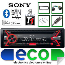 PEUGEOT 206 CC Sony 55 X 4W CD MP3 USB BLUETOOTH CAR radio stereo e kit di montaggio