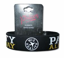 Wiz Khalifa Party All Day Black Rubber Wristband New Official Merch