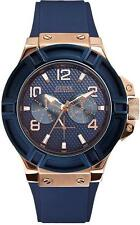 GUESS Blue Silicone Mens Watch U0247G3