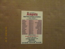 MLB California Angels Vintage Circa 1989 PALM SPRINGS Baseball Card Schedule