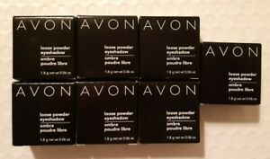 Lot of 7 Avon Loose Powder Eyeshadow -7 shades - New in Box - New Old Stock