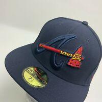 New Era Cap MLB Atlanta Braves Navy Red 59FIFTY Hat