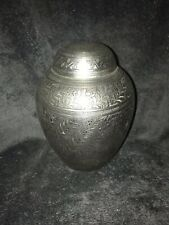 Silver Jewel Metal Pet Urn Medium To Large, Dog Urn