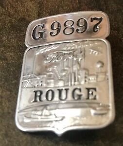 ~RARE~ Vintage Ford Rouge Plant Employee ID Badge #G9897