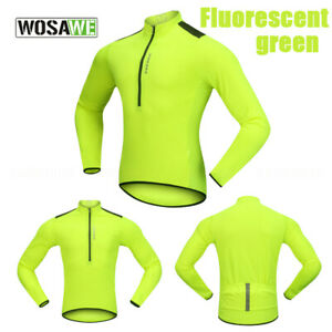 NEW MEN'S LONG SLEEVE CYCLING JERSEY PRO BIKER BICYCLE COAT RIDING QUICK DRY TOP