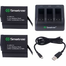 Smatree Battery (2-Pack) With 3-Channel Charger for Gopro HERO 6 Black V02.01