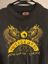 VTG 80s Shao Lin Do Karate Double Dragon Ying Yang Harley Davidson 50/50 Tee M