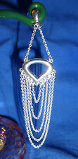 Gorgeous 3 and 1/4 inch LONG Multi Chain Silver Plated Dangle Dangly Earrings