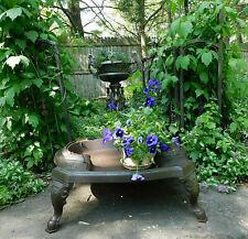 Antique Cast Iron Stove Base- Repurpose Steampunk Garden Art Plant Stand