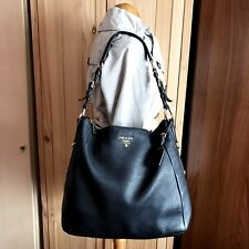 Genuine Prada Vitello Daino Black Hobo Shoulder Leather Bag - RRP £1,250