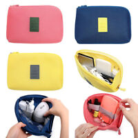 Travel Data Cable Charger Shockproof Storage Bag Power Pack Pouch Case Organizer