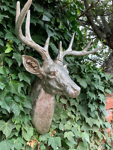 Large Size Animal Skull Wall Sculpture Ram Stag Head Hanging Ornament Home Decor